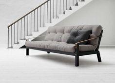 Canapé AchatDesign, achat Canapé convertible futon gris foncé Strap prix promo AchatDesign 699.00 € TTC au lieu de 899 €