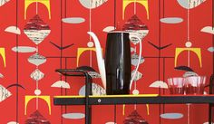 Mobiles wallpaper printed by Sanderson http://www.chapelinteriors.co.uk/wallpapers/Sanderson_50sCollection_Mobiles_.aspx