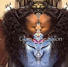Natural, versatile curly sew-in...this is cute! i wonder if you cold do this with straight weave then curl it