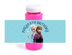 Personalized Frozen Elsa Anna Birthday Party Favors Bubble Labels by DannisCuteCreations