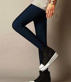 Marcmarcs Leatherlook legging Donkerblauw Basic Leggings, Pants, Fashion, Trouser Pants, Moda, Fashion Styles, Women's Pants, Women Pants, Fashion Illustrations