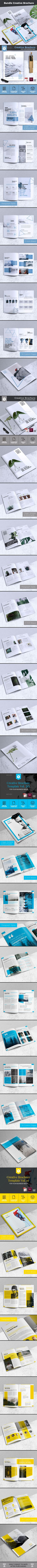 Bundle Creative Brochure Vol 01 - Corporate Brochures Download here : https://graphicriver.net/item/bundle-creative-brochure-vol-01/20644458?s_rank=89&ref=Al-fatih #brochure #brochure design #brochure template  #design #premium design #bifold #trifold