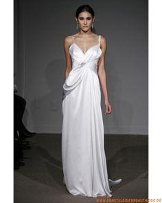 2013 Neue Brautmode aus Seide V-Ausschnitt