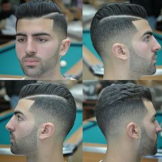 Fresh Skin fade with a hard part