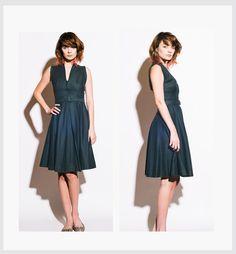 EISENBERG ORIGINALS Vintage 1940s Black Summer Dress on Etsy, $380.00