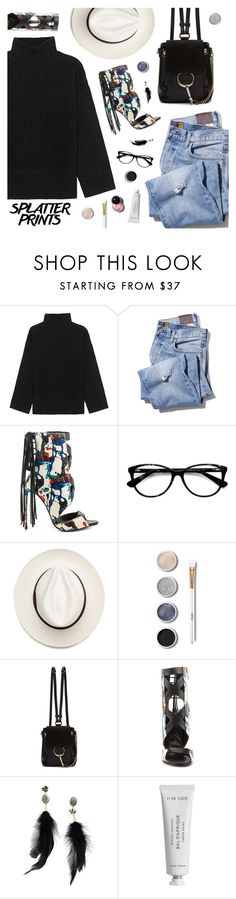"""Splatter Prints"" by the92liner ❤ liked on Polyvore featuring Steffen Schraut, Lust For Life, Ace, Chloé, Betsey Johnson, Byredo and paintiton"
