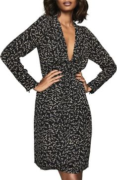 Shop a great selection of Reiss Julia Long Sleeve Print Dress. Find new offer and Similar products for Reiss Julia Long Sleeve Print Dress. Reiss Dresses, Dresses Uk, Dresses Online, Dresses For Work, Plunge Dress, Dress Shapes, Nordstrom Dresses, Wrap Dress, Clothes