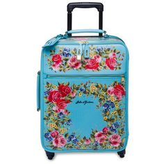 Dolce  Gabbana Roses Leather Suitcase ($3,897) ❤ liked on Polyvore featuring bags, luggage, travel, blue and luggage & travel