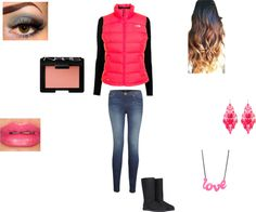 """casual warm outfit (:"" by alissaharthausen on Polyvore"
