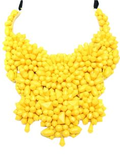 Vintage Prada necklace. Probably tons more money than just eating corn like a pig and getting it all over your shirt...