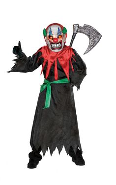 Crazy Clown Costume for Kids Girl Zombie Costume, Evil Clown Costume, Zombie Cheerleader Costume, Zombie Kid, Zombie Halloween Costumes, Costume Craze, Zombie Mask, Clown Mask, Zombie Makeup