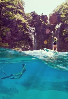 paddleboarding and free diving