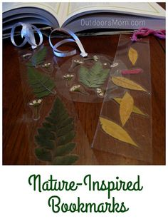 Nature Bookmarks ~ An easy activity that bridges nature and reading ... two great things to immerse kids in! | OutdoorsMom