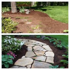 'Before' and 'After' of our front yard!