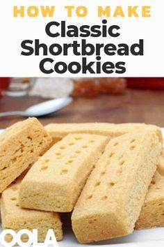 Since these cookies are also a popular dessert during the holidays, it's a good idea to find the shortbread recipe that works for you and add it to your holiday baking lineup. Easy Shortbread Cookie Recipe, Scottish Shortbread Cookies, Homemade Shortbread, Whipped Shortbread Cookies, Shortbread Recipes, Buttery Cookies, Yummy Cookies, Shortbread Biscuits, Shortbread Bars