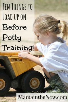 Ten Things to Load up On before potty training. We recommend adding Kandoo wipes to this list too!
