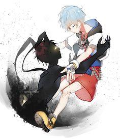 Akashi and Kuroko- crossover kingdom Hearts Akashi Kuroko, Akashi Seijuro, Akakuro, Anime Child, Anime Boys, Kuroko's Basketball, Kuroko No Basket, Kingdom Hearts, Me Me Me Anime