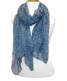 Love this Blue & White Stars Scarf by Tickled Pink on #zulily! #zulilyfinds