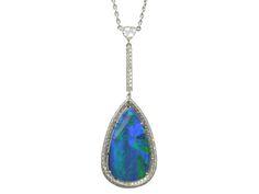 Platinum Black Opal Diamond pendant. Opal weighs 7.86ct, Diamonds 0.48ct.  http://www.luciecampbell.com/necklaces/All/1158--5/  £7950  richard@luciecampbell.com  Lucie Campbell Jewellers Bond Street London  http://www.luciecampbell.com