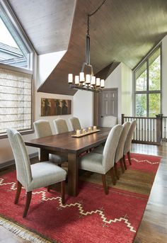Western Contemporary dining room