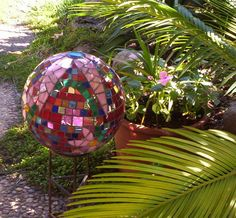 Another recycled bowling ball.