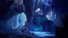 Glacier Cave by Apollyon888.deviantart.com on @deviantART