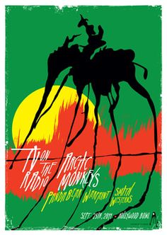 TV ON THE RADIO / ARCTIC MONKEYS        Sept. 25, 2011 • HOLLYWOOD BOWL Design by Kii Arens