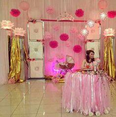 Main table backgroun decor My princess baby shower
