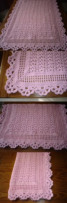 Blankets and Throws 3081: Snuggle Up Hand Crocheted Baby Girl Afghan - Pink - New - 31 X 43 -> BUY IT NOW ONLY: $33 on eBay!