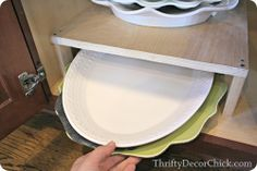 A #DIY shelf inside the cabinets