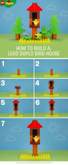 Building a LEGO DUPLO bird house like this is a great way to teach your little one about animals and nature. Make one from the LEGO DUPLO bricks you have at home.