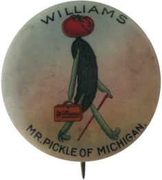 Pickle of Michigan pin-back advertising button Vintage Pins, Vintage Images, Mr Pickles, American History Museum, Busy Beaver, Food Advertising, Image Fun, Old Ads, Blog Design