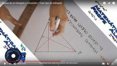 En este video se muestra de forma práctica como trazar las alturas de un triángulo y su punto de intersección. Videos, Triangle, Playing Cards, Shape, Dots, Playing Card Games, Game Cards, Playing Card