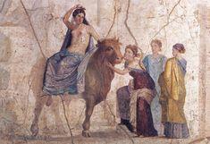 Η απαγωγή της Ευρώπης. Τοιχογραφία από την Οικία του Ιάσονα στην Πομπηία, 1ος αι. π.Χ. Νάπολη, Αρχαιολογικό Μουσείο Νάπολης, 111475