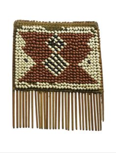 Africa   Comb from the Yao people of the Shire Highlands of Malawi   Wood and beadwork