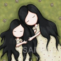 Daughters  8 x 8 Giclee Fine Art Print  Gorjuss Art by gorjuss, $18.00