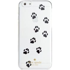 kate spade new york Paw Print Resin iPhone 6 Case ($40) ❤ liked on Polyvore featuring accessories, tech accessories, phones, clear and kate spade