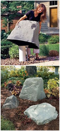 Outdoors Discover 23 Awesome DIY Outdoor Eyesore Hiding Ideas To Beautify Your Garden Faux Rocks Cover Unsightly PVC Pipes Lawn And Garden, Garden Art, Garden Design, Garden Planters, Home And Garden, Outdoor Projects, Garden Projects, Diy Projects, Garden Ideas