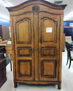 This beautiful armoire is for sale today in our Family Store on North Main Street! #FeaturedFurniture