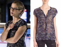00a2116020437a Felicity  Cap Sleeve Floral Print Blouse – Arrow Fashion Blog Felicity  Smoak