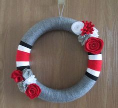 OSU wreath  customized sports wreath  Ohio State by SewMuchSpirit. , via Etsy.