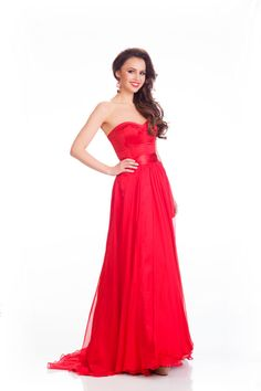 Camilla Hansson Miss Sweden's evening dress for Miss Universe 2015.