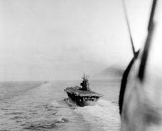 USS Enterprise (CV 6) seen from approaching plane