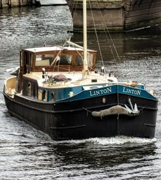 Dutch Barge Barge Boat, Canal Barge, Canal Boat, Liveaboard Boats, Shanty Boat, Dutch Barge, Houseboat Living, Floating Homes, Steam Boats