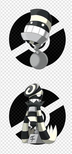 Beightinny - Weight Pokemon - Steel/Dark, Slorter - Prisoner Pokemon - Steel/Dark