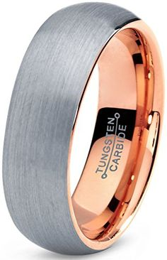 Tungsten Wedding Band Ring 7mm for Men Women Comfort Fit 18K Rose Gold Plated Domed Brushed Lifetime Guarantee Size 4 Charming Jewelers http://www.amazon.com/dp/B015HQOXNQ/ref=cm_sw_r_pi_dp_O0wowb1AH84RV
