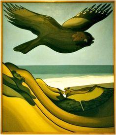 Don Binney Rockwell Kent, New Zealand Art, Nz Art, Maori Art, Auckland, Bird Art, Art Images, Art Ideas, Blues