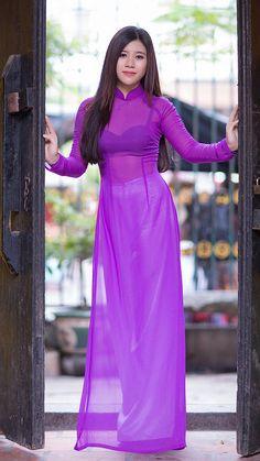 Best 12 All sizes Vietnamese Traditional Dress, Vietnamese Dress, Traditional Dresses, Transparent Clothes, Transparent Dress, Asian Fashion, Look Fashion, Beautiful Asian Women, Ao Dai