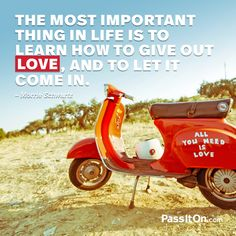 Love is in you... pass it on. #love #passiton www.values.com