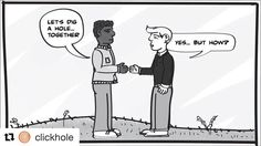 #Repost @clickhole  Beautiful: This Cartoon Imagines A World Without Racism Or Shovels #Wow #ClickHole